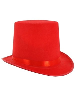Gentleman's Felt Top Hat in Red