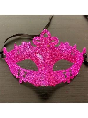 Glitzy Cerise Masquerade Mask
