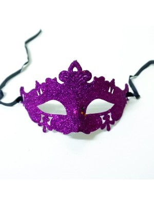 Glitzy Purple Masquerade Mask