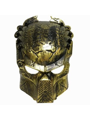 Plastic Alien Mask Gold