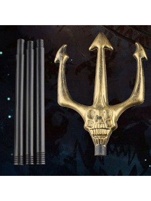 Gold Devil Fork with Skull Face