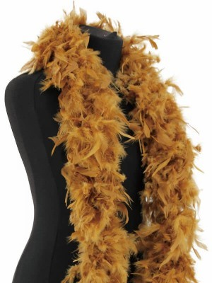 Deluxe Gold Feather Boa – 100g -180cm