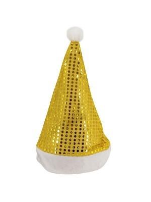 Gold Sequin Santa Christmas Hat