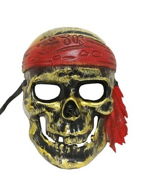 Ghost Pirate Skull Mask Gold