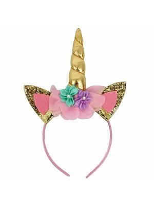 Gold Unicorn Horn Headband