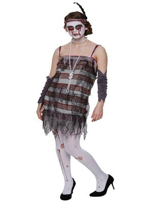 Great Gatsby Zombie Flapper Halloween Fancy Dress Costume