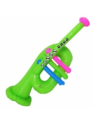 Inflatable Green Trumpet