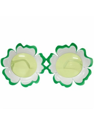 Pretty Coloured Green & White Sunflower Sunglasses.