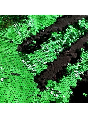 Green and Black Mermaid Sequin Backdrop