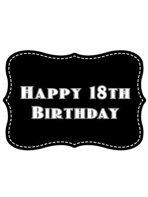 'Happy 18th Birthday' Vintage Style Photo Booth Prop