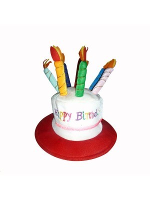 Happy Birthday Hat With Candles