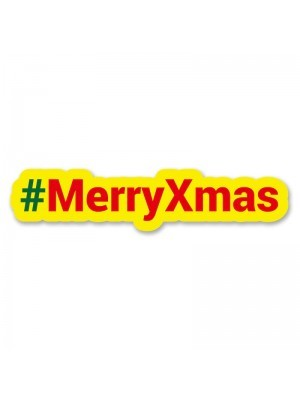 #MerryXmas Trending Hashtag Oversized Photo Booth PVC Word Board Sign