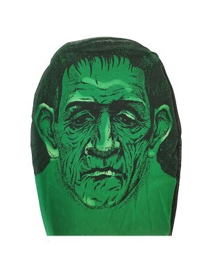 Green Troll Morph Mask Full Head Sock Halloween Fancy Dress Costume
