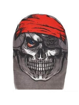 Skeleton Pirate Morph Mask Full Head Sock Halloween Fancy Dress Costume