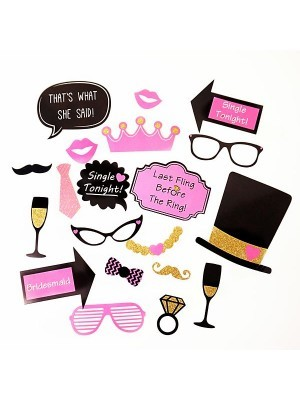 'Single Tonight' Hen Party Pack Of 20 Card Props On Sticks