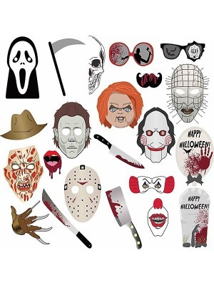 Horror Halloween Greats Props on Sticks