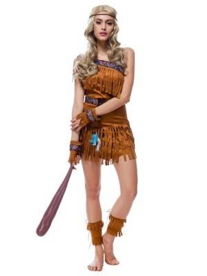 Female Native American Indian Fancy Dress Costume
