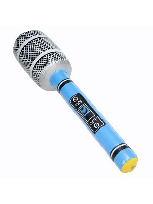 Inflatable Microphone Blue