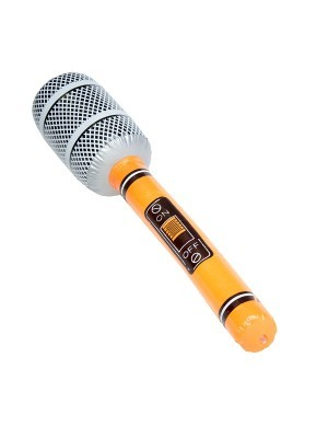 Inflatable Microphone Orange