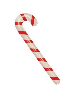 Inflatable Red and White Striped Candy Cane