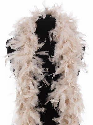 Luxury Ivory Feather Boa – 80g -180cm