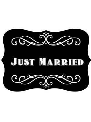 'Just Married' Vintage Style Photo Booth Prop