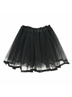 Kids Black Tutu Skirt With Ribbon Trim