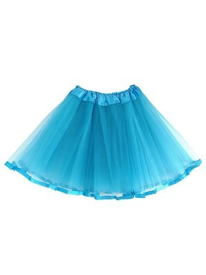 Kids Light Blue Tutu Skirt With Ribbon Trim