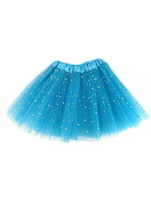Kids - Blue Tutu with Shiny Silver Stars