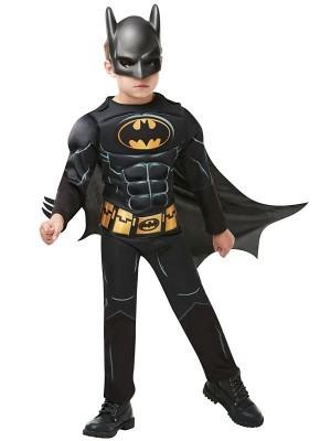 Kids Deluxe Batman Dark Knight Fancy Dress Costume