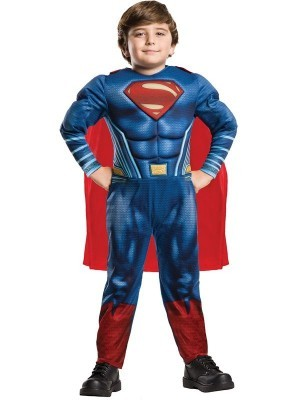 Kids Deluxe Superman Justice League Fancy Dress Costume Size S 3-4 Years