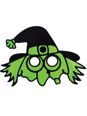 Kids Green Wicked Witch Halloween Mask