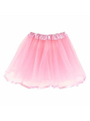 Kids Light Pink Tutu Skirt With Ribbon Trim