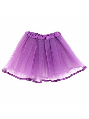 Kids Purple Tutu Skirt With Ribbon Trim