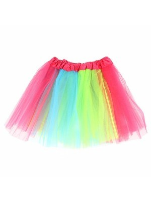 Kids - Neon Rainbow Coloured Tutu Skirt