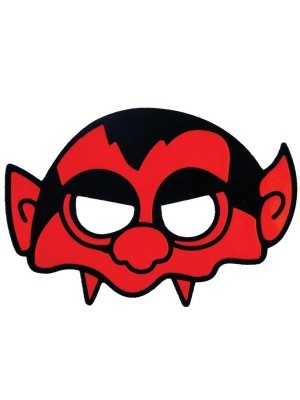 Kids Red Devil Head Halloween Mask