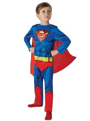 Kids Superman Classic Comic Book Fancy Dress Costume Size M 5-6 Years