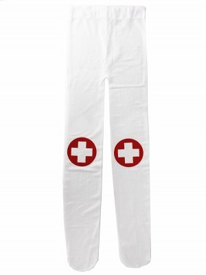 Kids White Colour Nurse Tights