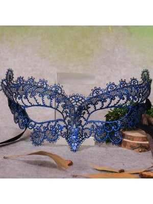 Enchanted Soft Lace Masquerade Mask in Royal Blue