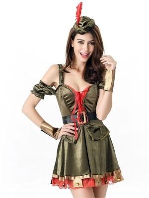 Lady Robin Hood Fancy Dress Costume