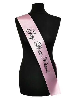 Light Pink With Black Writing 'Gay Best Friend' Sash