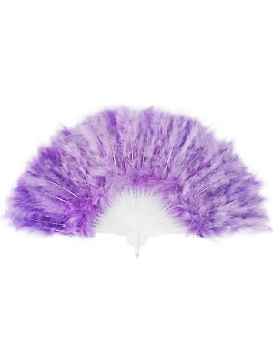 Stunning Light Purple Feather Fan