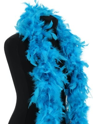 Luxury Bondi Blue Feather Boa – 80g -180cm