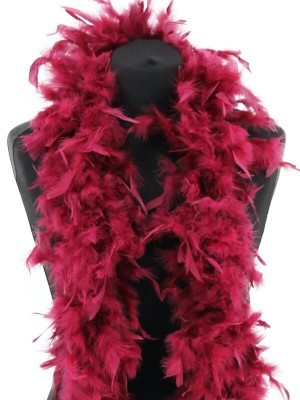 Luxury Burgundy Red Wine Feather Boa – 80g -180cm