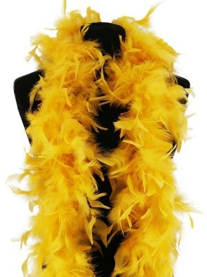 Luxury Buttercup Yellow Feather Boa – 80g -180cm