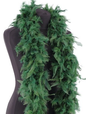 Luxury Pine Green Feather Boa – 80g -180cm
