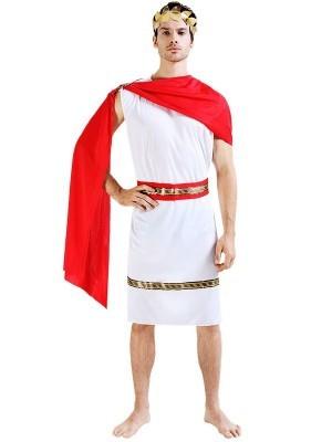Male Greek God Warrior Fancy Dress Costume – One Size
