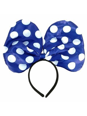Minnie Mouse Style Blue Dot Bow