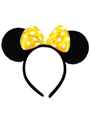 Minnie Mouse Style Ears and Yellow Bow