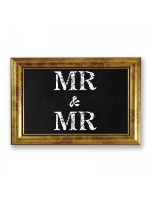 'Mr & Mr'  PVC Arrow Word Board Photo Booth Prop